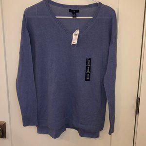 Gap linen blend v-neck sweater